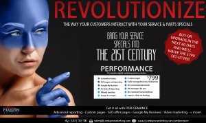 Revolutionize your service and parts specials
