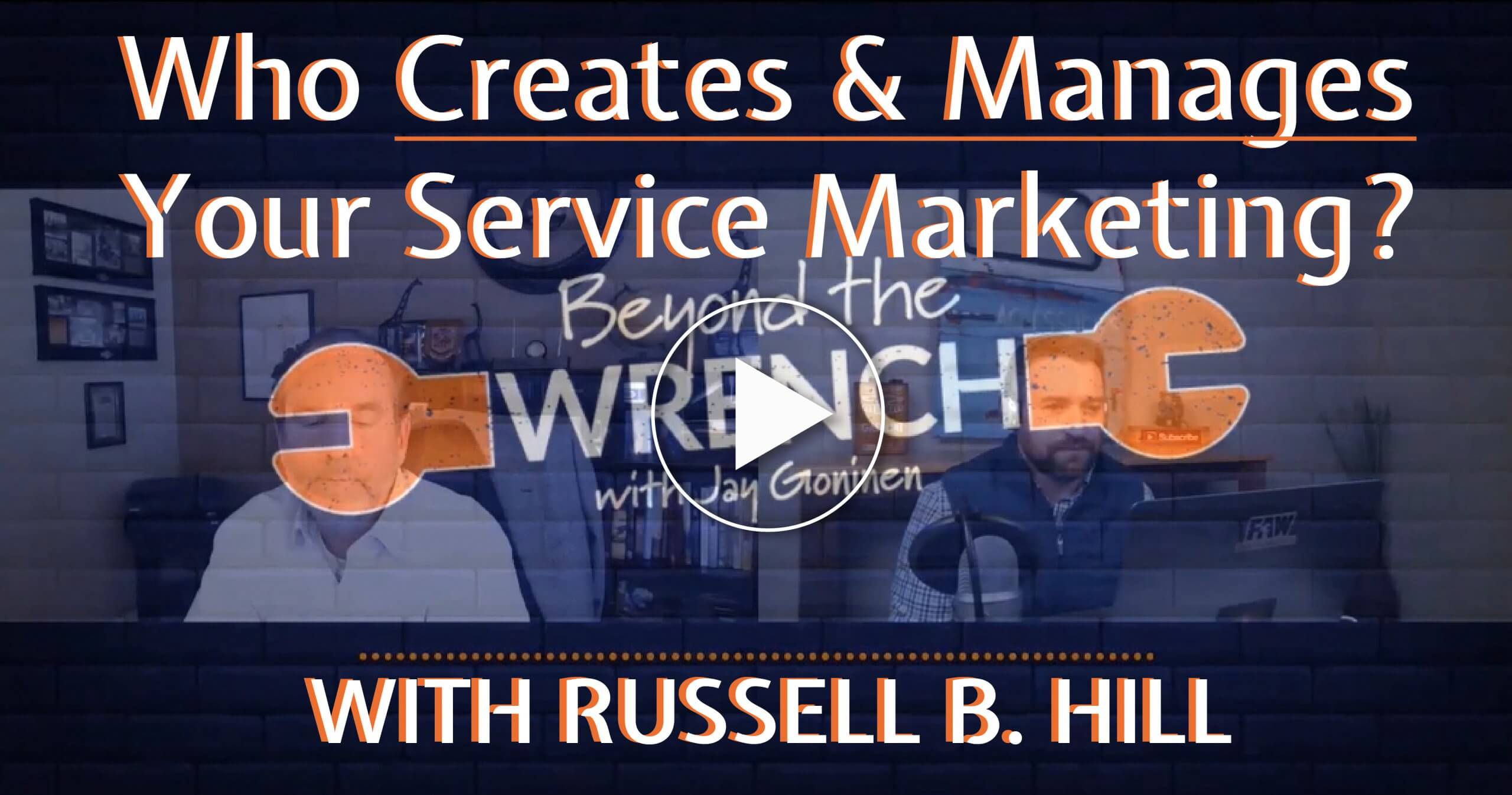 Who creates and manages your service marketing
