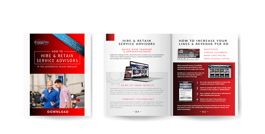How to hire and retain service advisors - free downloadable handout