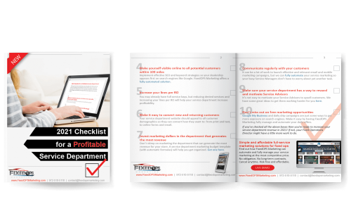 2021 Checklist for a Profitable Service Department